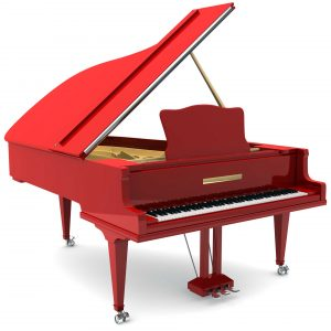 Red piano. Big Apple Movers NYC- Piano Movers NYC