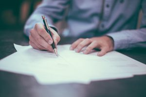 The deatils of a job relocation package in writing